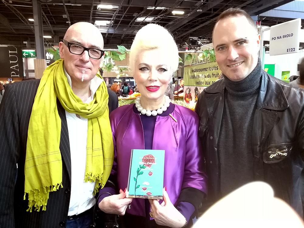Avec Philippe Bouret et Rodica Paléologue au Salon du livre de Paris le 16 mars 2019.